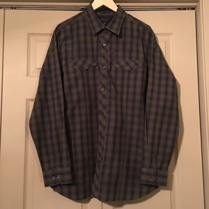 Banana Republic Green Purple Button Up L/S Shirt
